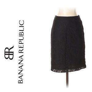 {BANANA REPUBLIC} NWT Petite Black Lace Mini Skirt